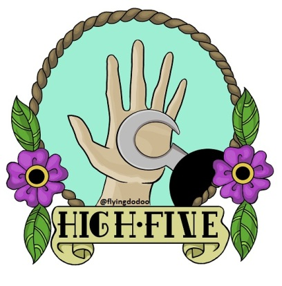 high five watermark