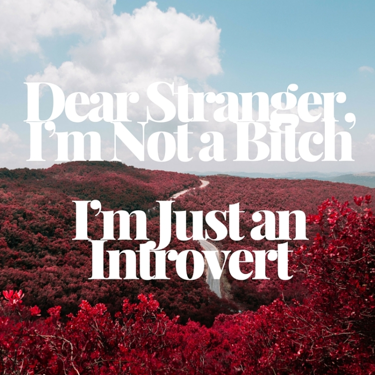 Dear Stranger, I'm Not a Bitch I'm Just an Introvert